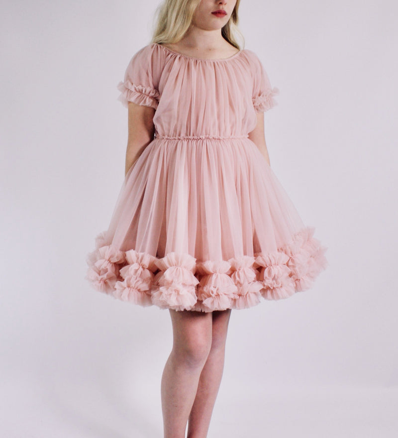 DOLLY by Le Petit Tom ® FRILLY DRESS rosepink - DOLLY by Le Petit Tom ®