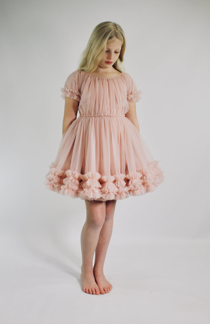 DOLLY by Le Petit Tom ® FRILLY DRESS ballet pink - DOLLY by Le Petit Tom ®
