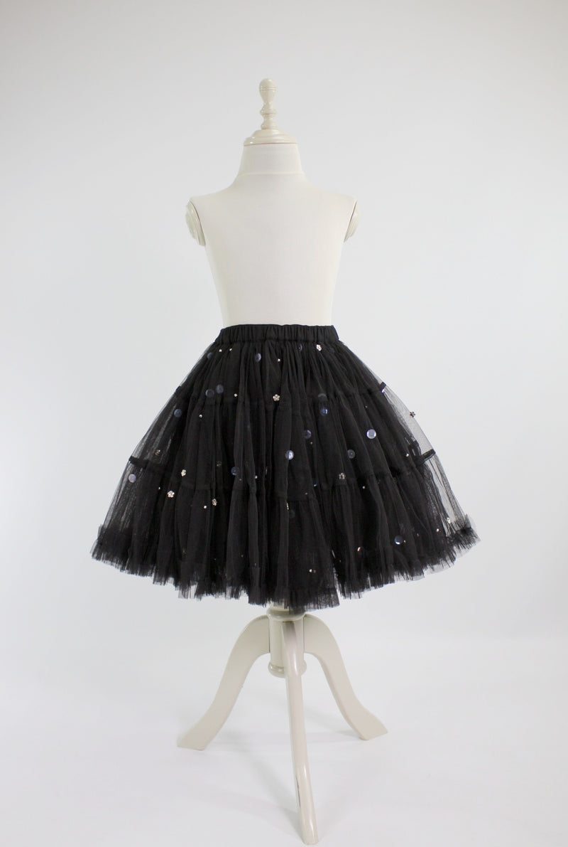 DOLLY by Le Petit Tom ® EMBELLISHED PETTISKIRT TUTU black - DOLLY by Le Petit Tom ®