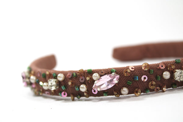 DOLLY by Le Petit Tom ® FAWN BAMBI hair band brown - DOLLY by Le Petit Tom ®