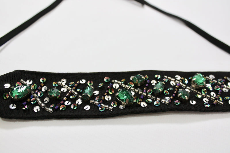 DOLLY by Le Petit Tom ® BLACK PANTHER choker/ headband black - DOLLY by Le Petit Tom ®