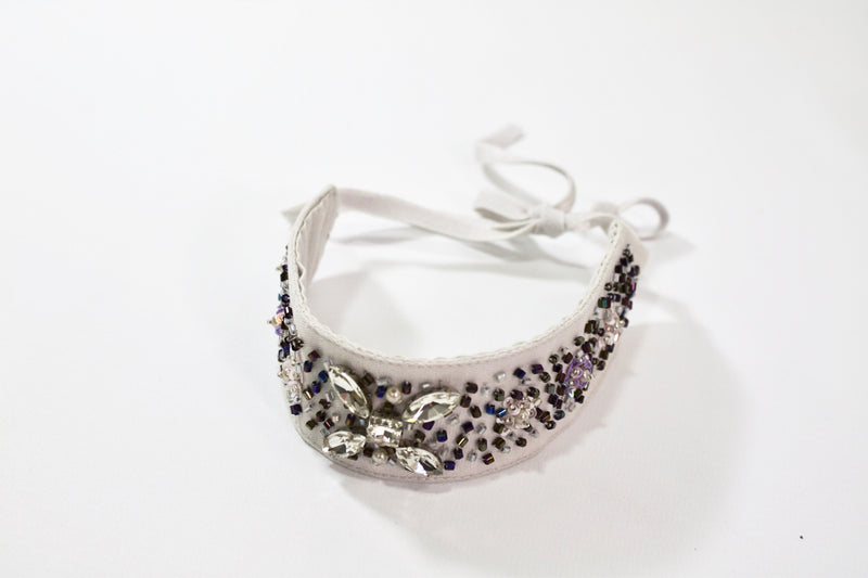 DOLLY by Le Petit Tom ® WOLF choker/ headband grey - DOLLY by Le Petit Tom ®