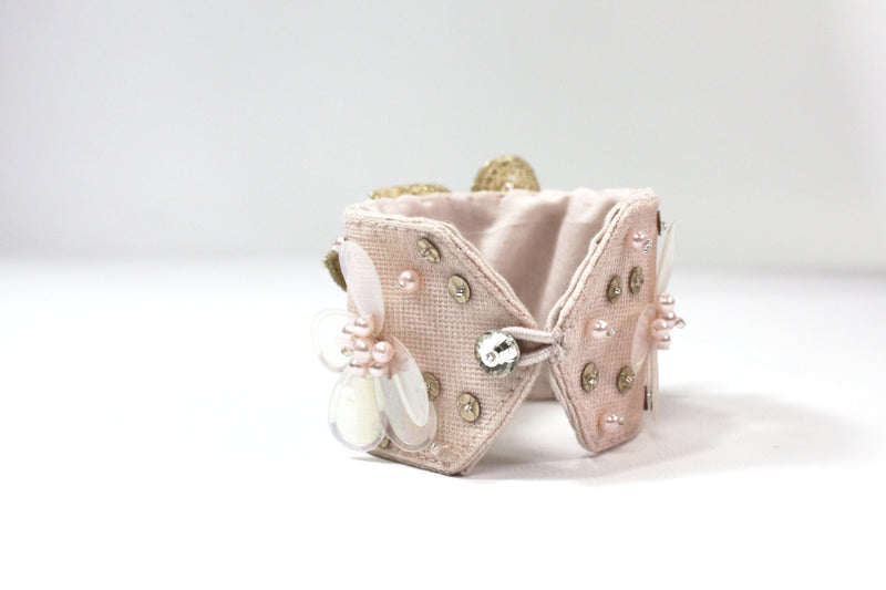 DOLLY by Le Petit Tom ® BELLE wrist cuff champagne - DOLLY by Le Petit Tom ®