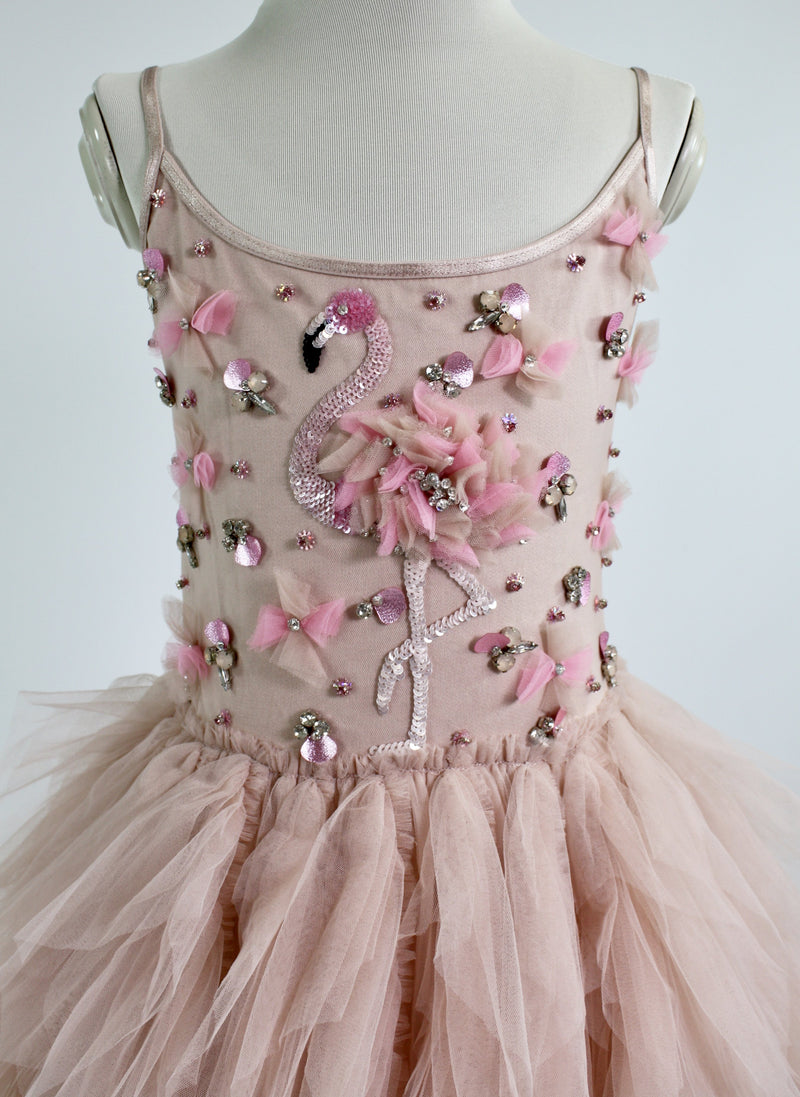 DOLLY by Le Petit Tom ® FLAMINGO tutu dress ballet pink - DOLLY by Le Petit Tom ®