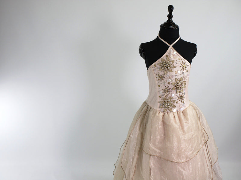 DOLLY by Le Petit Tom ® BELLE tutu dress champagne/ petal pink - DOLLY by Le Petit Tom ®