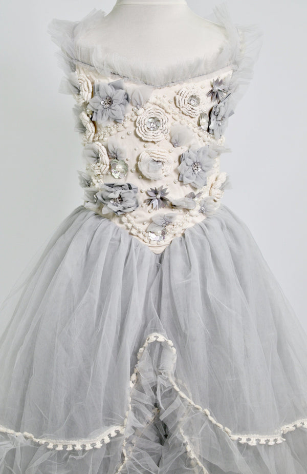 DOLLY by Le Petit Tom ® FOREST FAIRY tutu dress grey/ivory - DOLLY by Le Petit Tom ®