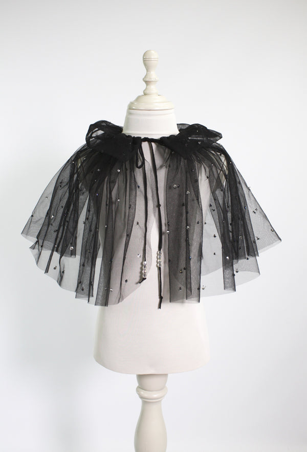 DOLLY by Le Petit Tom ® BEJEWELED cape black - DOLLY by Le Petit Tom ®