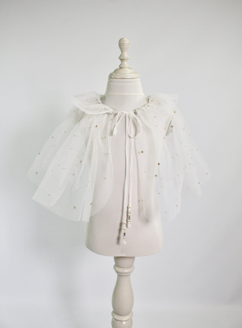 DOLLY by Le Petit Tom ® ENCHANTED cape off-white - DOLLY by Le Petit Tom ®