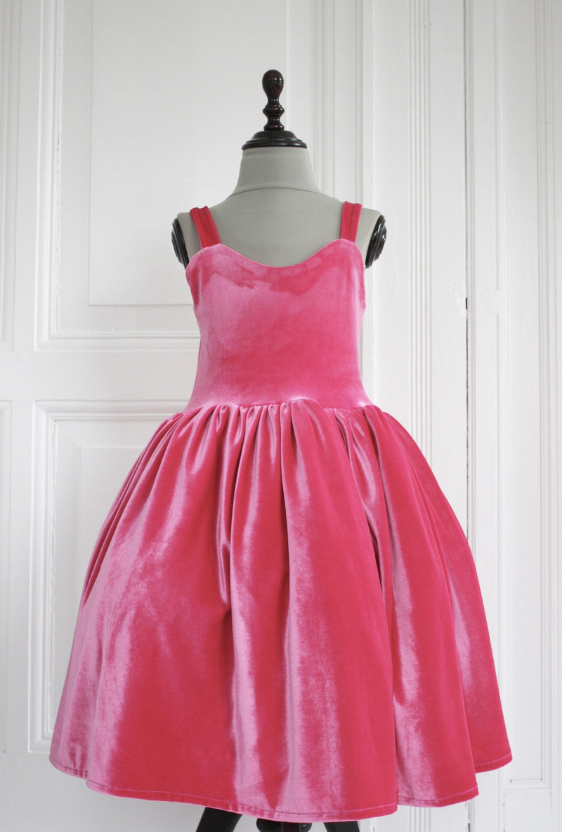 DOLLY by Le Petit Tom ® VELVET THE BALL GOWN dress fuchsia - DOLLY by Le Petit Tom ®