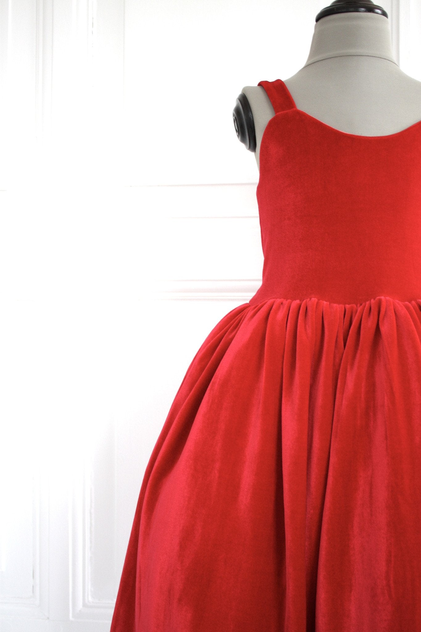 DOLLY by Le Petit Tom ® VELVET THE BALL GOWN dress red - DOLLY by Le Petit Tom ®