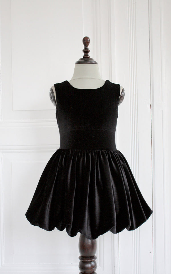 DOLLY by Le Petit Tom ® VELVET THE DELUXE BALLET dress black - DOLLY by Le Petit Tom ®