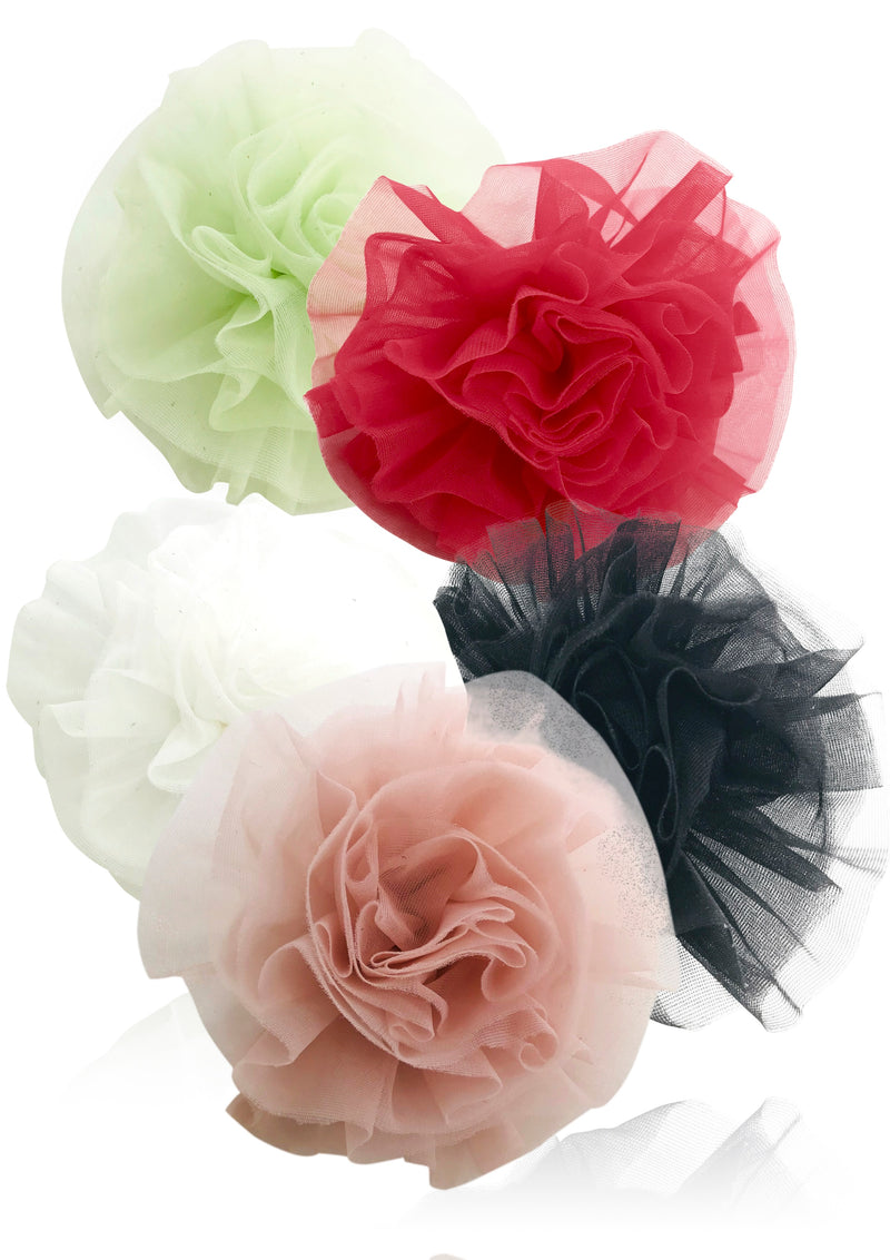 DOLLY by Le Petit Tom ® BEACH BALLERINA HAIR ROSETTE/ BROACH many colors