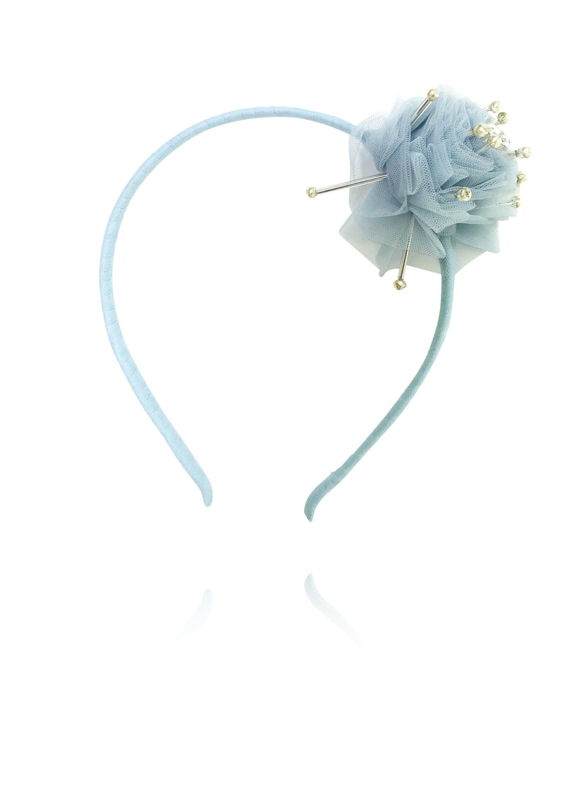 DOLLY by Le Petit Tom ® True Ballerina hair rosette headband light blue - DOLLY by Le Petit Tom ®