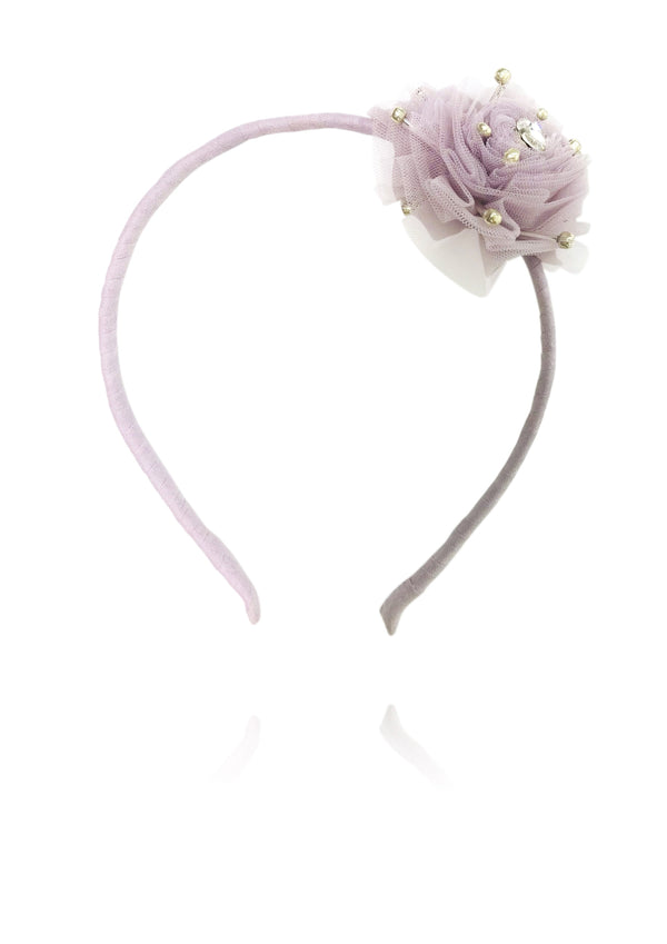 DOLLY by Le Petit Tom ® True Ballerina hair rosette headband violet - DOLLY by Le Petit Tom ®