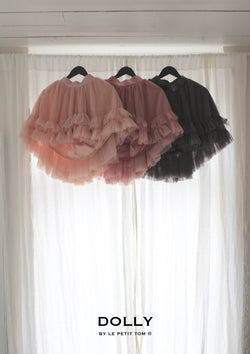 DOLLY by Le Petit Tom ® RUFFLED CHIFFON DANCE HIGH LOW TUTU ballet pink - DOLLY by Le Petit Tom ®