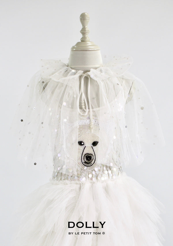 DOLLY by Le Petit Tom ® ICE BEAR cape white - DOLLY by Le Petit Tom ®