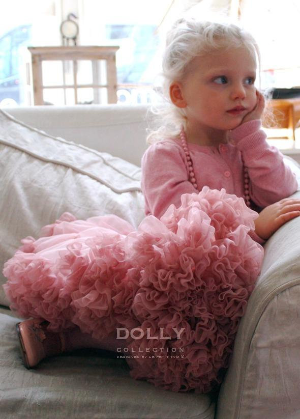 DOLLY by Le Petit Tom ® ISABELLA PINK pettiskirt rose & dusty pink - DOLLY by Le Petit Tom ®