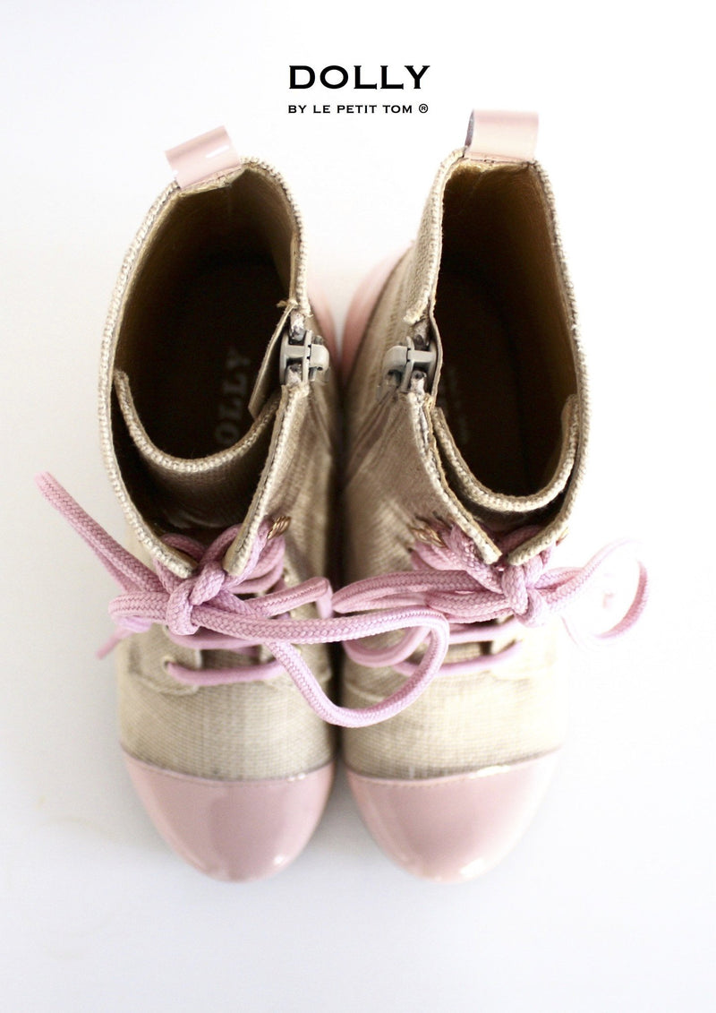 DOLLY by Le Petit Tom ® JUTE VICTORIAN BOOTS 2VIC jute-light pink - DOLLY by Le Petit Tom ®