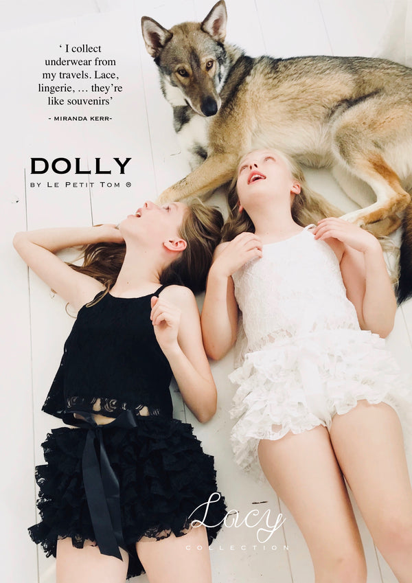 [OUTLET] DOLLY by Le Petit Tom ® LACY FRILLY PANTS TUTU BLOOMER off-white