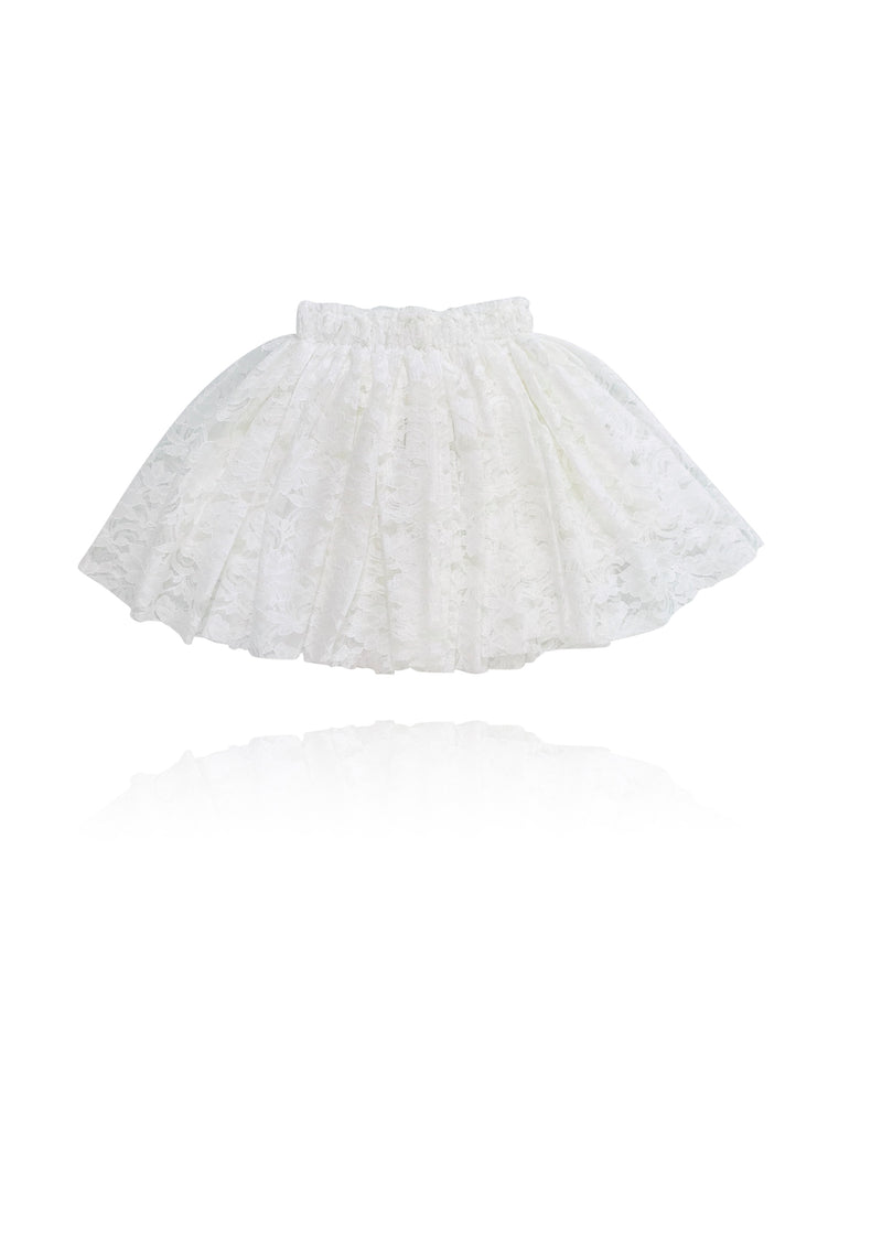 DOLLY by Le Petit Tom ® LACY SHORT TUTU off-white