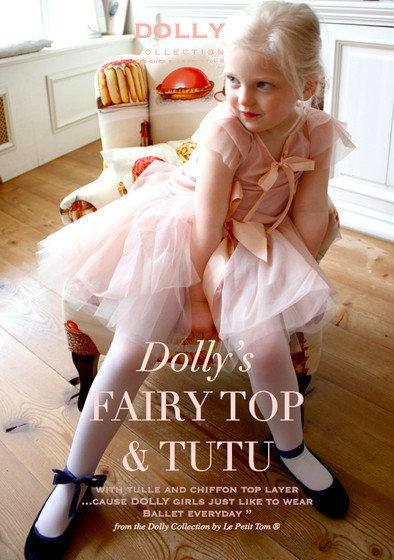 DOLLY by Le Petit Tom ® FAIRY TUTU cream/ dusty pink