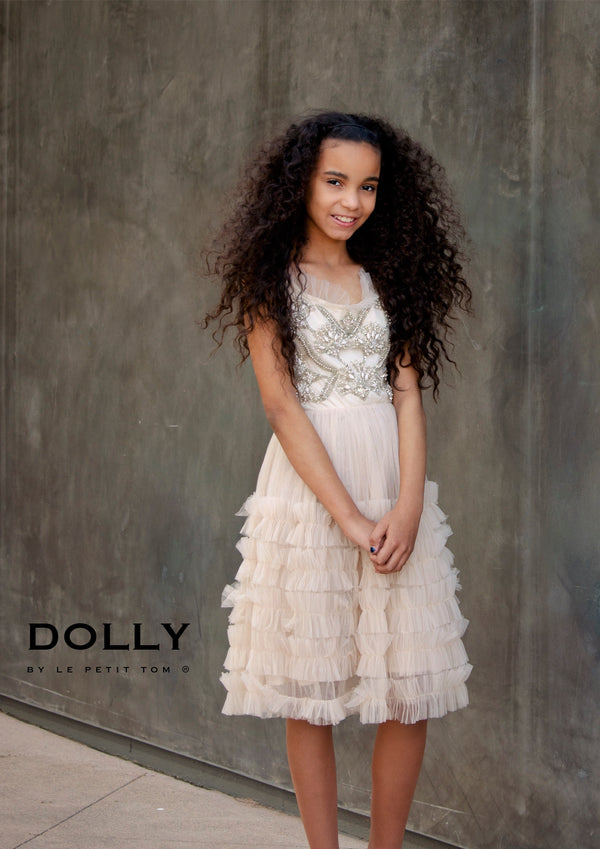 [ OUTLET!] DOLLY by Le Petit Tom ® BOHO Lily tutu dress