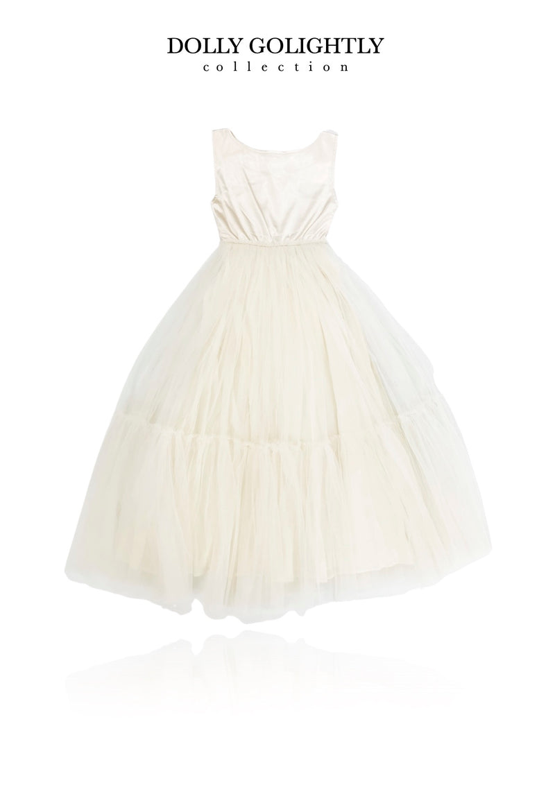 [ OUTLET] DOLLY GOLIGHTLY Breakfast @ Tiffany's SATIN MAXI TUTU DRESS I ♥coffee