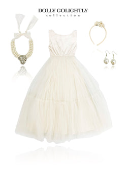 DOLLY GOLIGHTLY Breakfast @ Tiffany's SATIN MAXI TUTU DRESS SET INCL. JEWELRY I ♥ Coffee