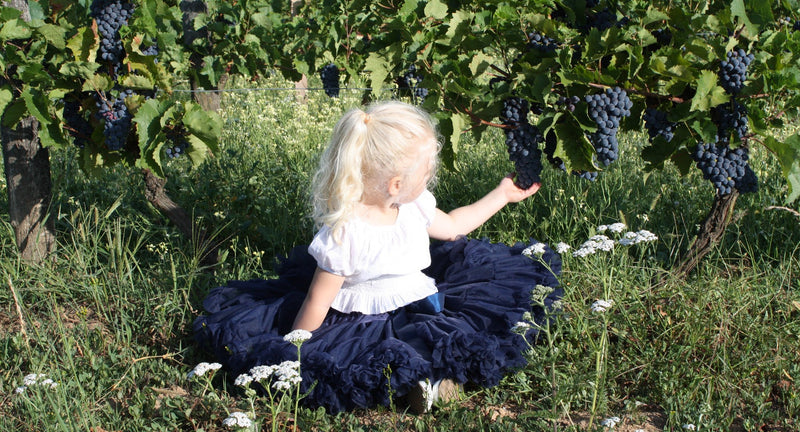DOLLY by Le Petit Tom ® SNOW QUEEN pettiskirt dark blue navy