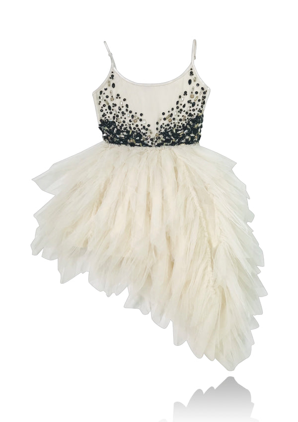 [ PRE ORDER !] DOLLY by Le Petit Tom ® JEWELER'S CRYSTALS Onyx tutu dress