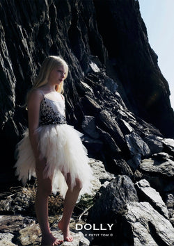 [ OUTLET!] DOLLY by Le Petit Tom ® JEWELER'S CRYSTALS Onyx tutu dress