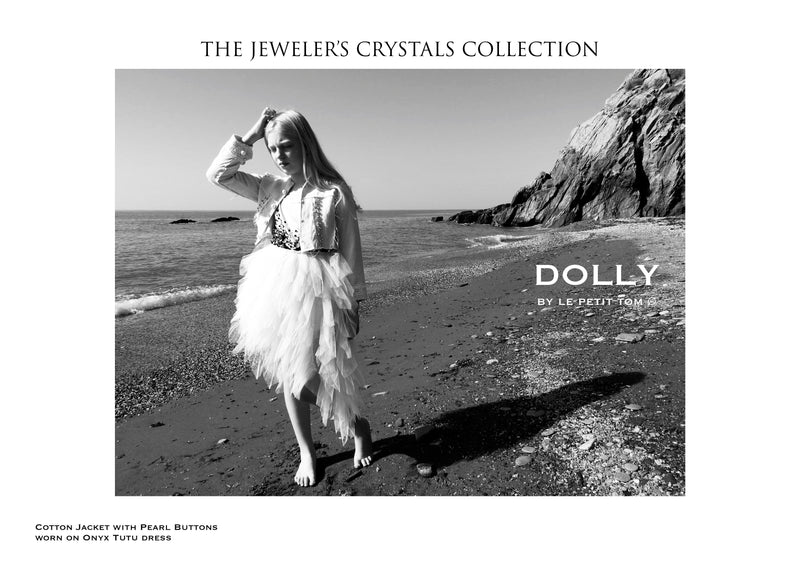 DOLLY by Le Petit Tom ® JEWELER'S CRYSTALS the pearl jacket