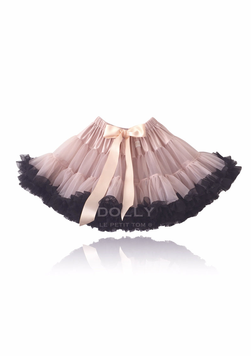 DOLLY by Le Petit Tom ® QUEEN OF CONTRAST pettiskirt ballet pink with black - DOLLY by Le Petit Tom ®