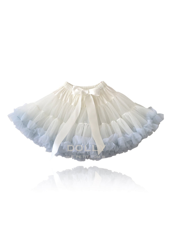 DOLLY by Le Petit Tom ® QUEEN OF THE ENVIRONMENT pettiskirt off-white with lightblue - DOLLY by Le Petit Tom ®