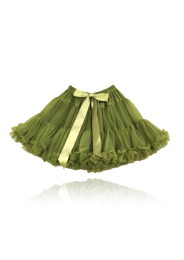 DOLLY by Le Petit Tom ® SPANISH QUEEN OLIVE pettiskirt olive - DOLLY by Le Petit Tom ®