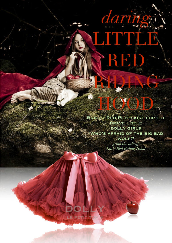DOLLY by Le Petit Tom ® LITTLE RED RIDING HOOD pettiskirt red - DOLLY by Le Petit Tom ®