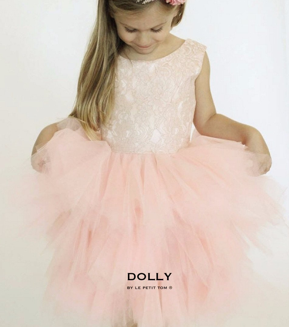 DOLLY by Le Petit Tom ® the PIROUETTE DRESS ballet pink - DOLLY by Le Petit Tom ®