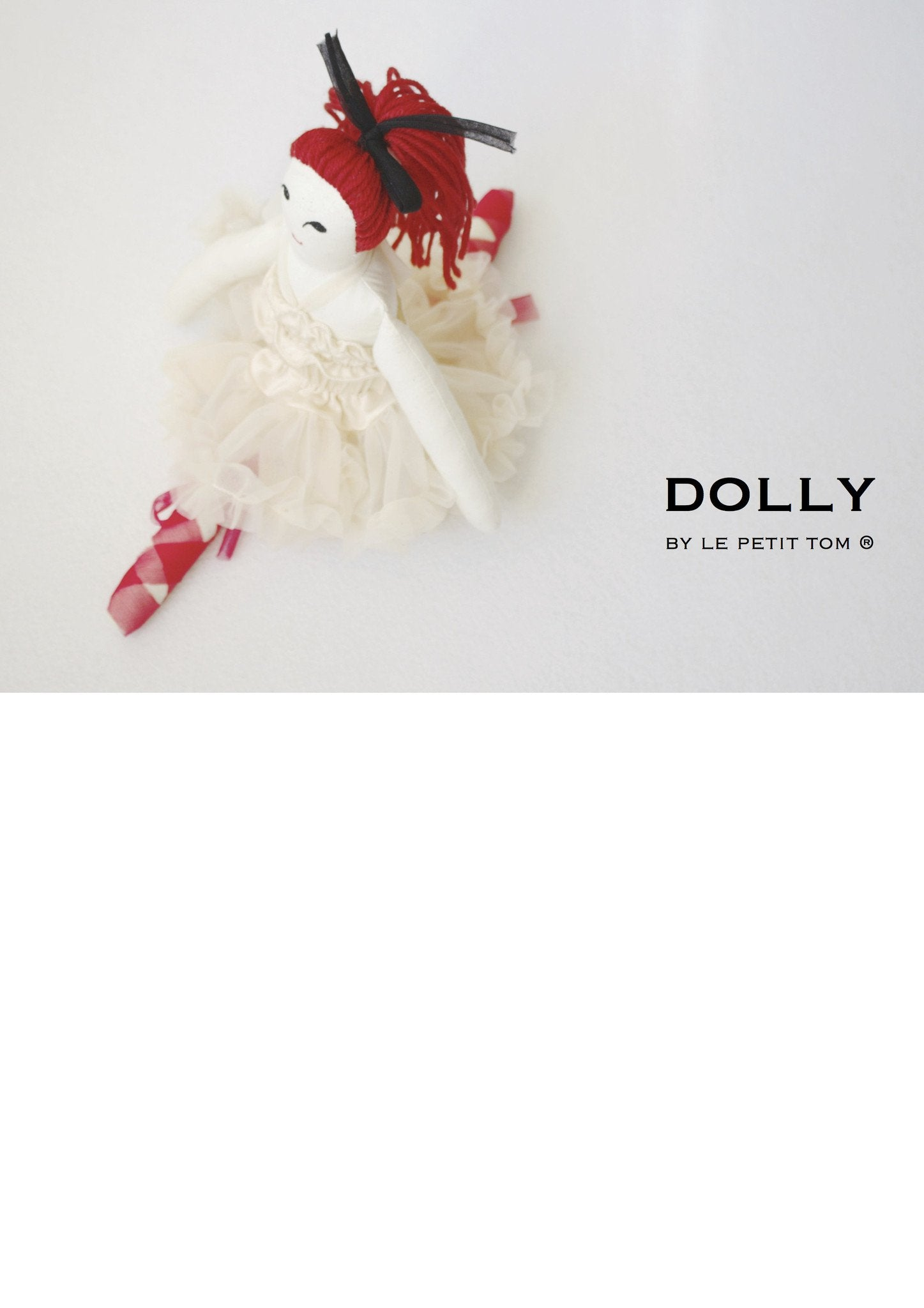 DOLLY by Le Petit Tom ® PRINCESS IVORY DOLL cream - DOLLY by Le Petit Tom ®