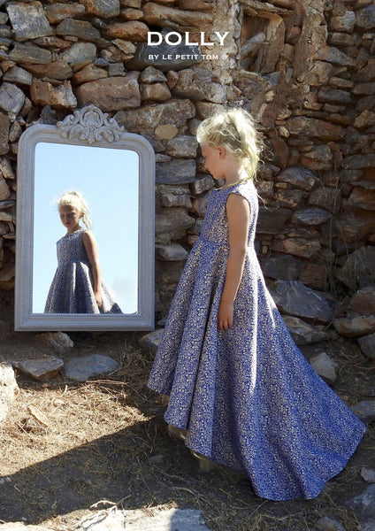 DOLLY by Le Petit Tom ® VIVID MEMORY 'Snow White's Queen Grimhilde' JACQUARD DRESS navy - DOLLY by Le Petit Tom ®