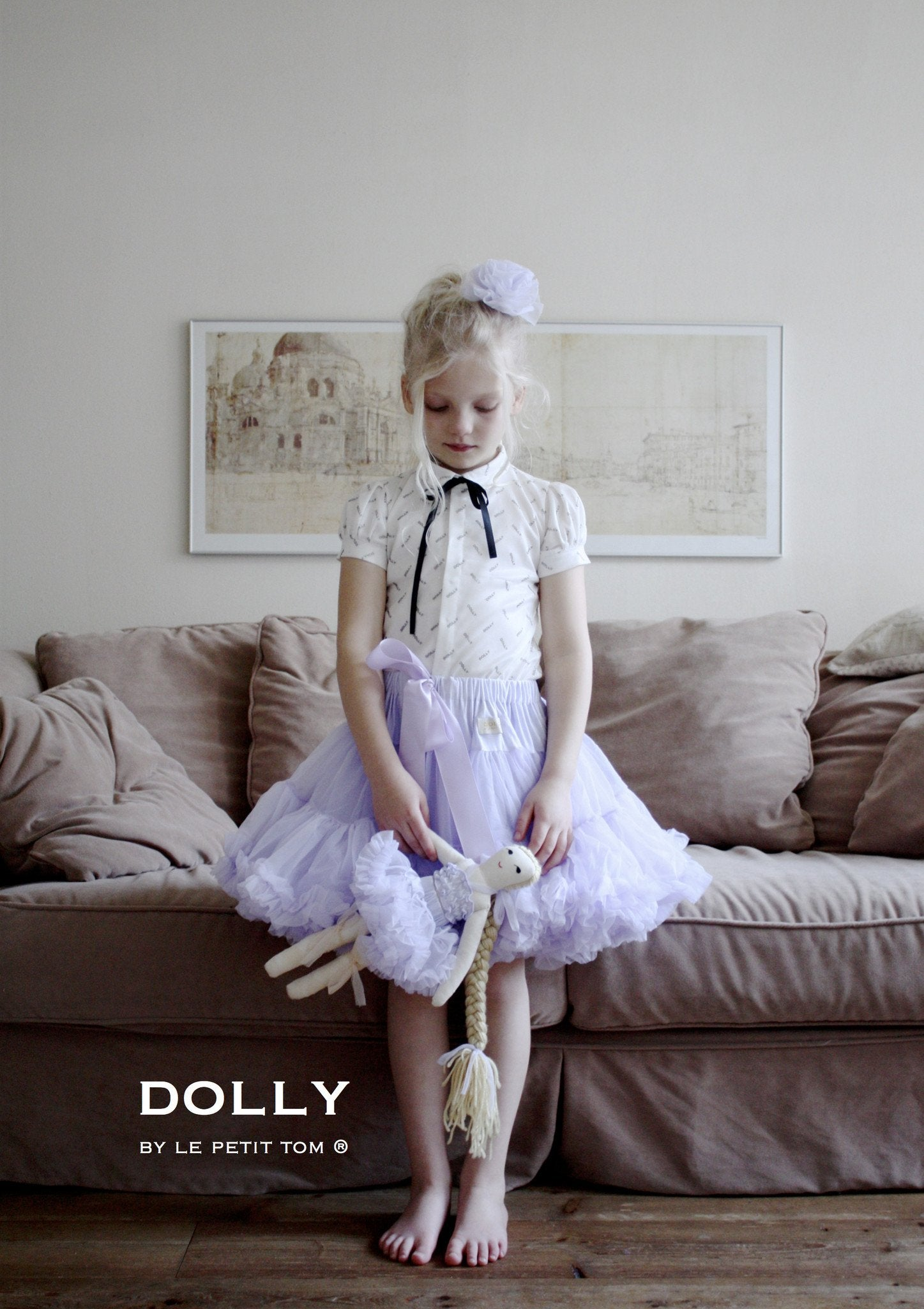 DOLLY by Le Petit Tom ® RAPUNZEL pettiskirt lavender - DOLLY by Le Petit Tom ®