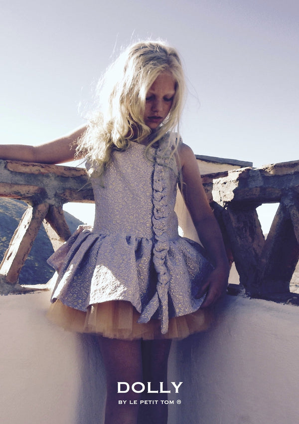 DOLLY by Le Petit Tom ® VIVID PERSONALITY 'Rapunzel' JACQUARD DRESS lavender - DOLLY by Le Petit Tom ®