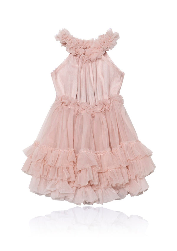 DOLLY by Le Petit Tom ® RUFFLED CHIFFON DANCE DRESS ballet pink