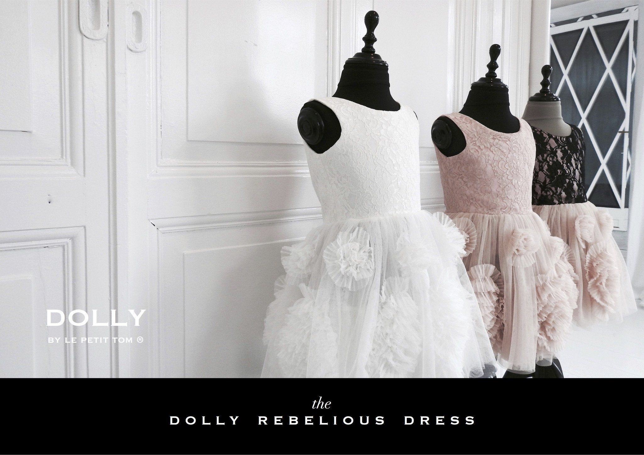 DOLLY by Le Petit Tom ® REBELLIOUS DRESS off-white - DOLLY by Le Petit Tom ®