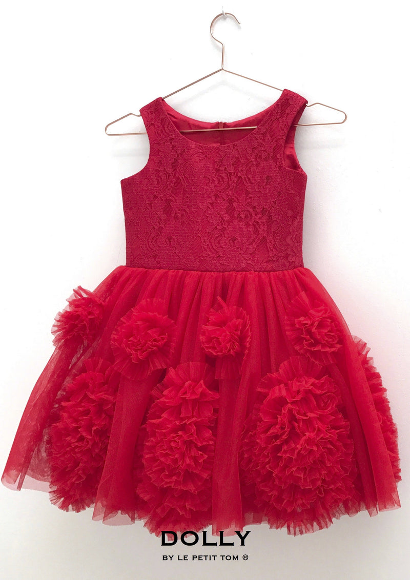 DOLLY by Le Petit Tom ® REBELLIOUS DRESS red - DOLLY by Le Petit Tom ®