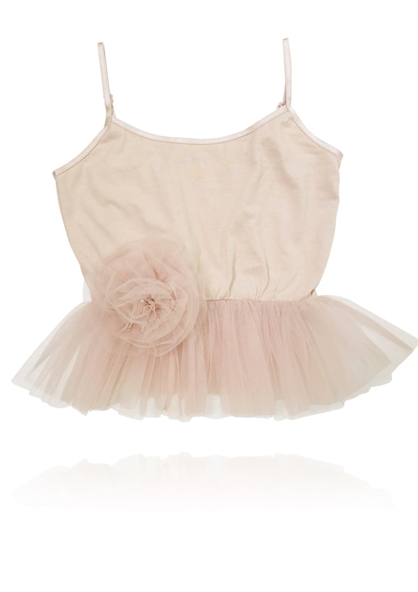 DOLLY by Le Petit Tom ® Cami Top with Rosette ballet pink - DOLLY by Le Petit Tom ®