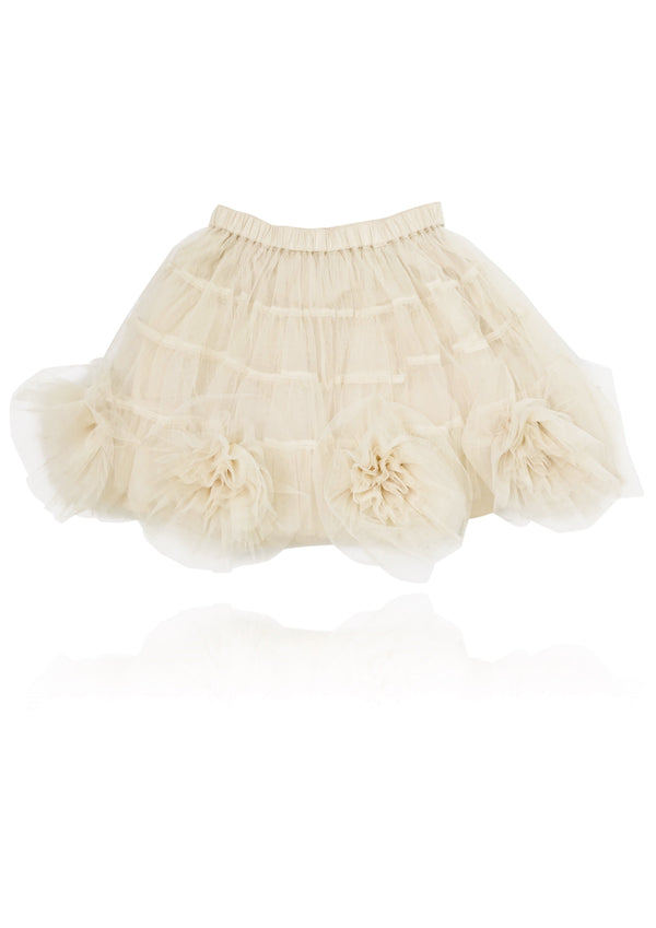 DOLLY by Le Petit Tom ® Rosette Tutu Skirt coffee - DOLLY by Le Petit Tom ®