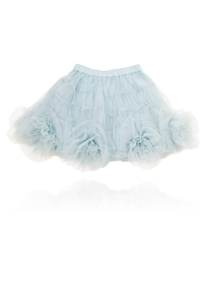 DOLLY by Le Petit Tom ® Rosette Tutu Skirt light blue - DOLLY by Le Petit Tom ®