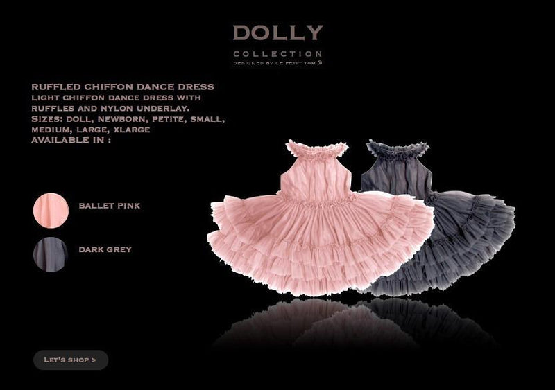 DOLLY by Le Petit Tom ® RUFFLED CHIFFON DANCE DRESS ballet pink - DOLLY by Le Petit Tom ®