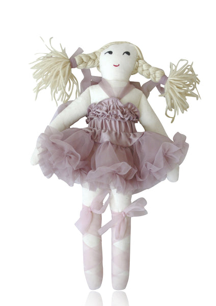 DOLLY by Le Petit Tom ® THUMBELINA DOLL mauve
