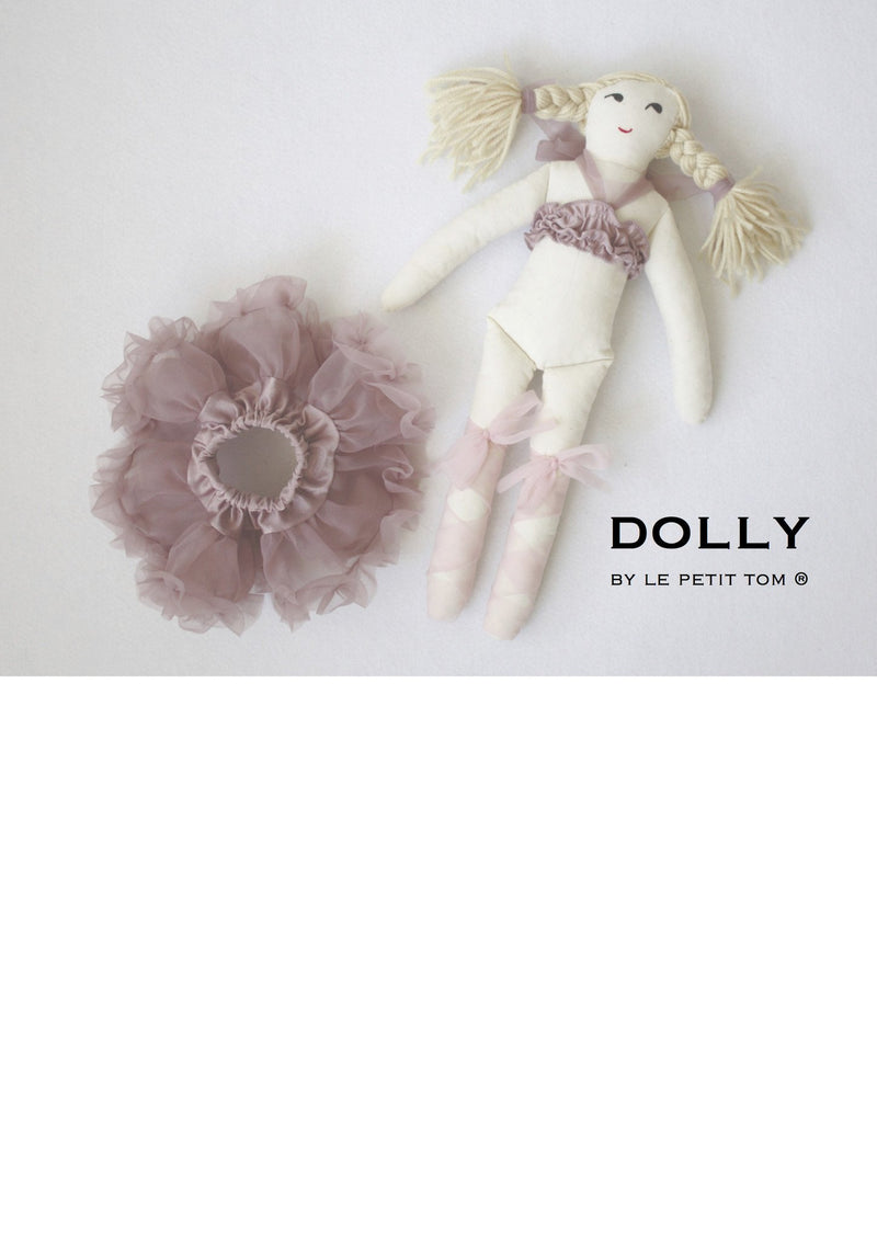 DOLLY by Le Petit Tom ® THUMBELINA DOLL mauve - DOLLY by Le Petit Tom ®